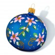 Christmas Blue Ball — Foto de Stock