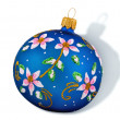 Royalty-Free Stock Photo: Christmas Blue Ball