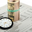 Stock Photo: News, Time And Money