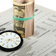 News, Time And Money — Stock Photo #10275708