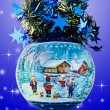 Christmas Ball  on Blue Background — Foto de Stock