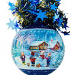 Christmas Ball with Iimage of Children — Photo