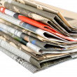 Newspapers stack — Stock fotografie