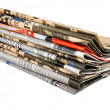 Newspapers stack — 图库照片