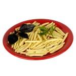 Spaghetti, parsley and basil — Stock Photo