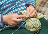Knitting With Needles — Stock Photo