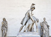 Statue of Menelaus and Patroclus — Stock Photo