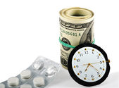 Time, Money And Healthcare — Stock Photo