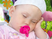 Baby sleeps — Stock Photo