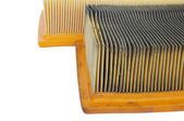 Comparing new and old car air filters — Stock Photo