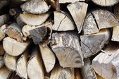 Stacked firewood ready for winter — Stock Photo