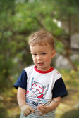 Baby boy in the park — Stock Photo