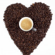 Love for coffee beans — Stockfoto