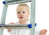 On step ladder — Stock Photo