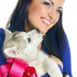 Woman and puppy — Stock Photo #10609858