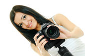 Güzellik fotoğrafçı — Stok fotoğraf