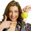Woman with apple — Stock Photo #10640211