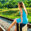 On railway — Stock Photo