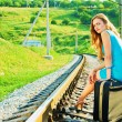 On the train tracks — Stock Photo
