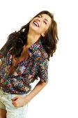 Modely smích — Stock fotografie