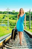 鉄道の散歩 — ストック写真