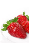 Strawberries on white background. — Stock Photo