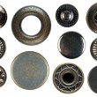 Set of snap fasteners - Stockfoto