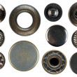 Set of snap fasteners - Foto Stock
