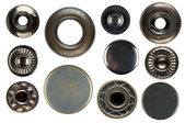 Set of snap fasteners — Foto Stock