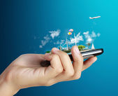 Ekran dotykowy telefon komórkowy — Zdjęcie stockowe