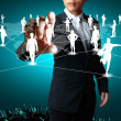 Social network structure — Stock Photo #10413558