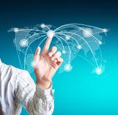 Soziales netzwerk-struktur — Stockfoto