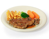 Saftiges steak — Stockfoto