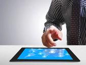 Dotykový tablet pojetí — Stock fotografie