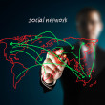 Drawing social network — Stock Photo #10567073