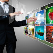 Reaching images streaming - Foto de Stock