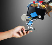 Pantalla táctil del teléfono móvil — Foto de Stock