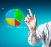 Pointing graph — Stock Photo