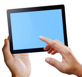Touch tablet concept — Stock Photo