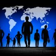Silhouettes of business — Stock Photo
