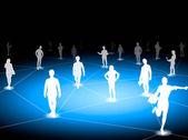 In piedi su una connessione virtuale — Foto Stock