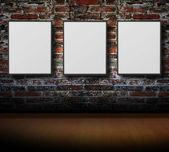 Empty frames on wall — Stock Photo