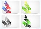 Jeu de cartes colorées abstraites — Vecteur