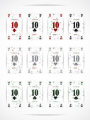 Business card as a playing card — 图库矢量图片