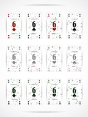 Business card as a playing card — Vecteur
