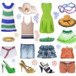 Collection of summer clothes — Stock Photo