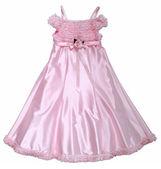 Rosa klänning med rose — Stockfoto