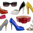 Collection of fashion shoes - Foto Stock