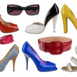 Royalty-Free Stock Photo: Collection of fashion shoes