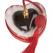 Stock Photo: Red heart, perfum